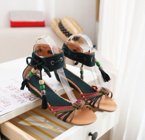 Flat-sandals-Ladies-sandals-Wooden-beads-2012-new-style-Free-shipping