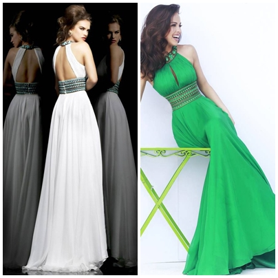 A-LINE JEWEL ZIPPER CHIFFON EMPIRE LONG PROM DRESSESps
