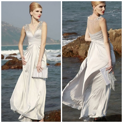A-LINE SLEEVELESS SATIN FLOOR-LENGTH YARN LONG PROM DRESSESps